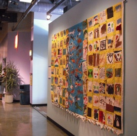 The quilt and video were exhibited at the chicago children's museum